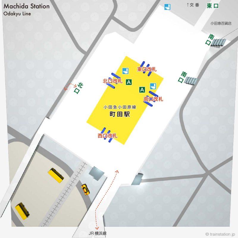 小田急 町田駅の構内図