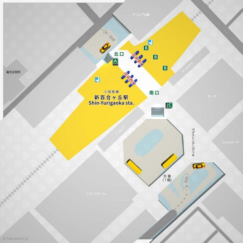 新百合ヶ丘駅の構内図