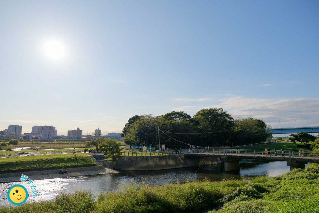 兵庫島公園と野川