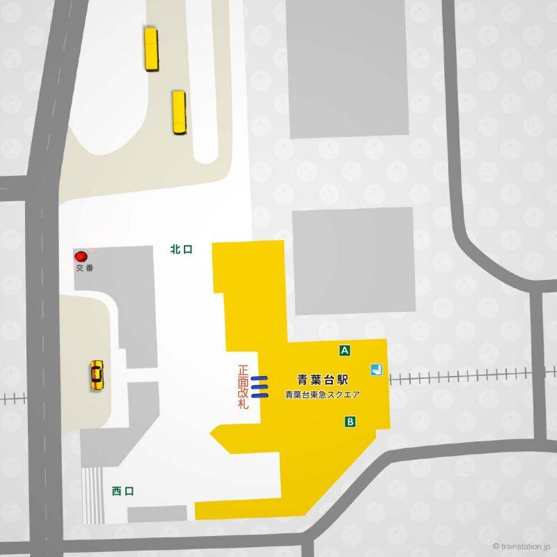 東急田園都市線の青葉台駅構内図