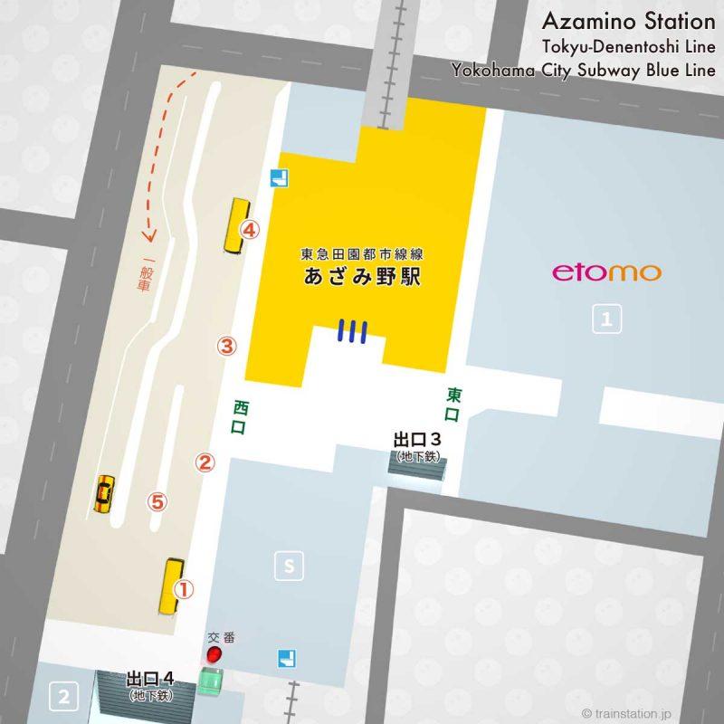 あざみ野駅ロータリーマップ