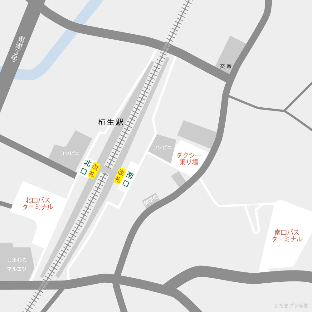 柿生駅構内図 小田急小田原線