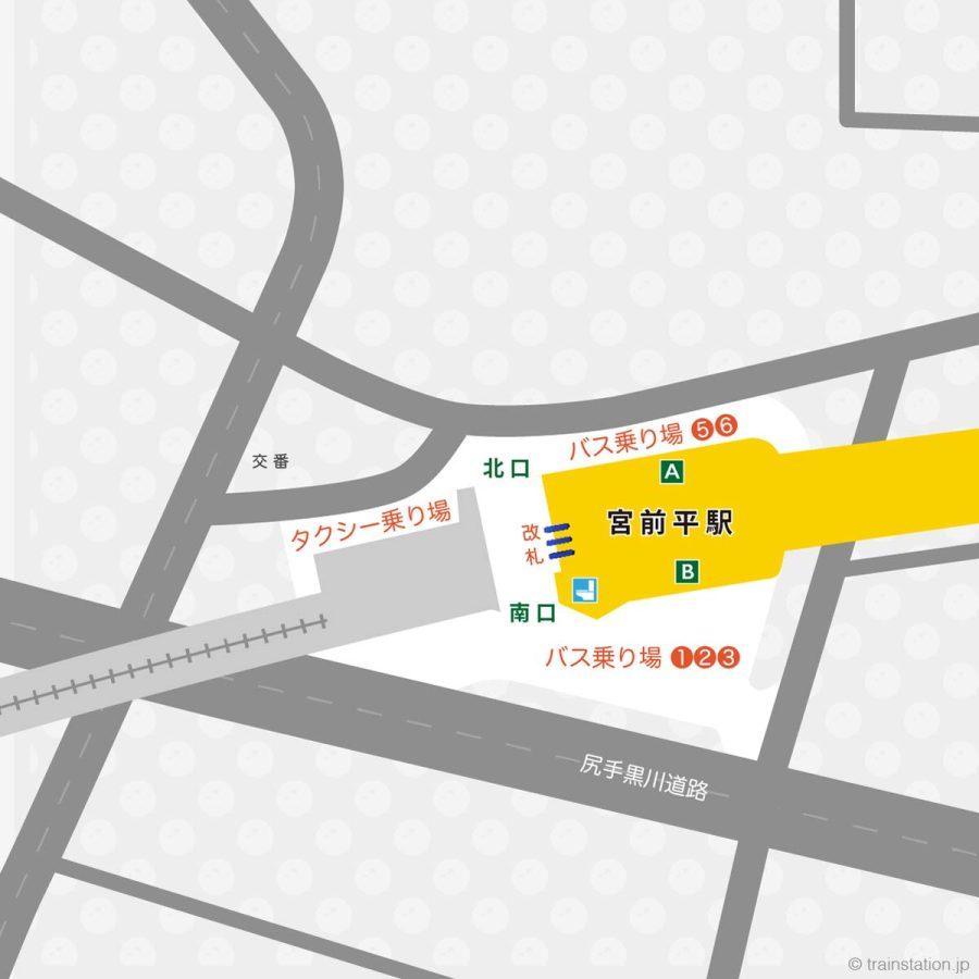 宮前平駅構内図