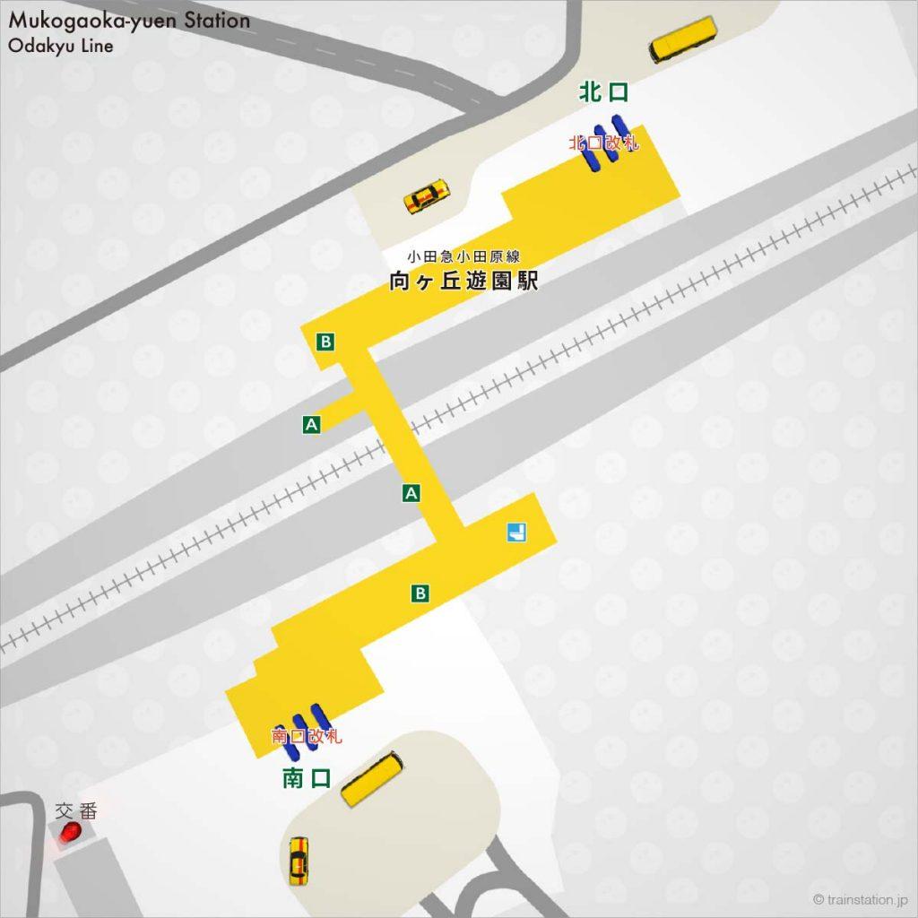 小田急 登戸駅の構内図