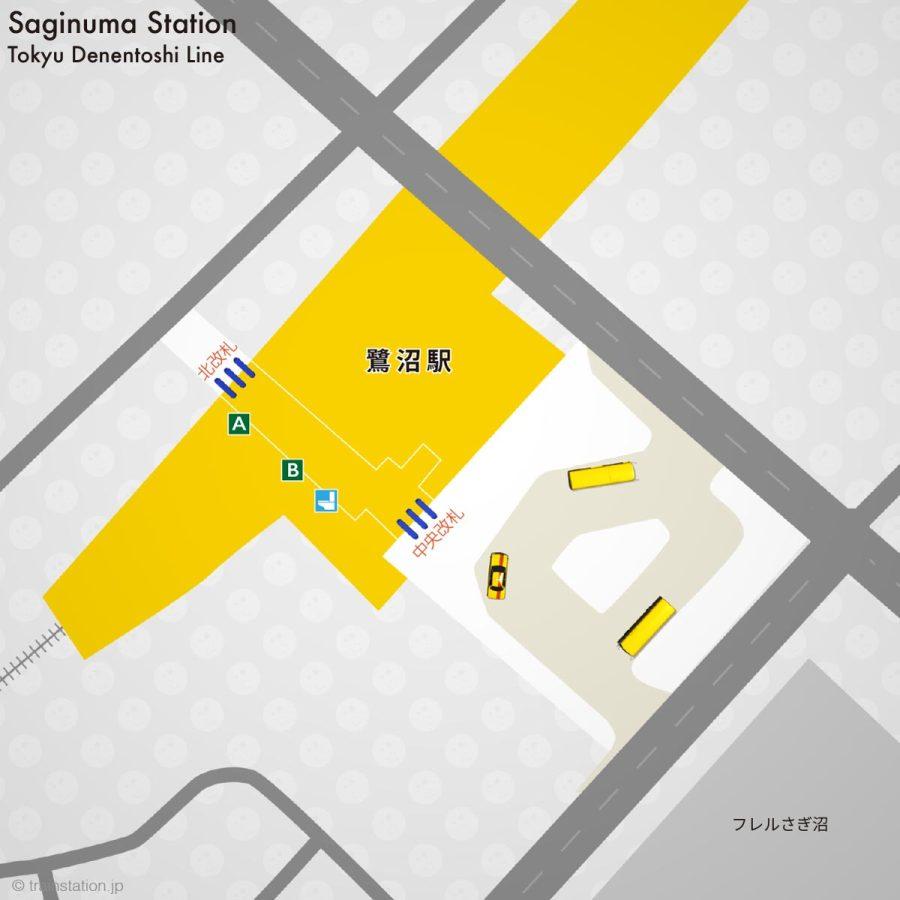 東急田園都市線 鷺沼駅構内図