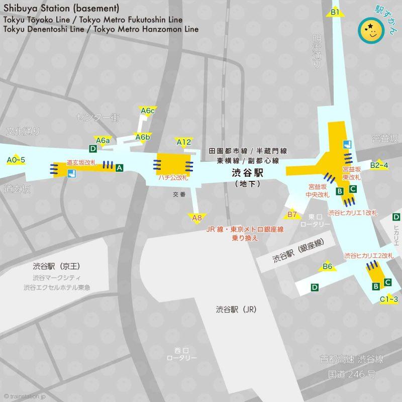 地下 渋谷駅構内図