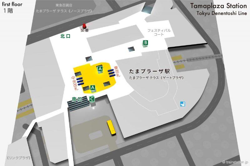 東急田園都市線 たまプラーザ駅構内図