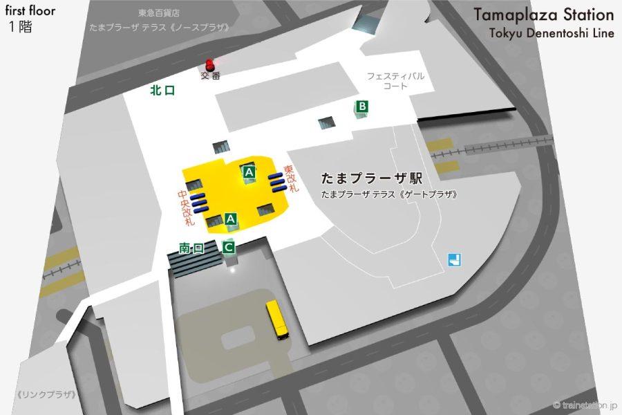 たまプラーザ駅構内図1階