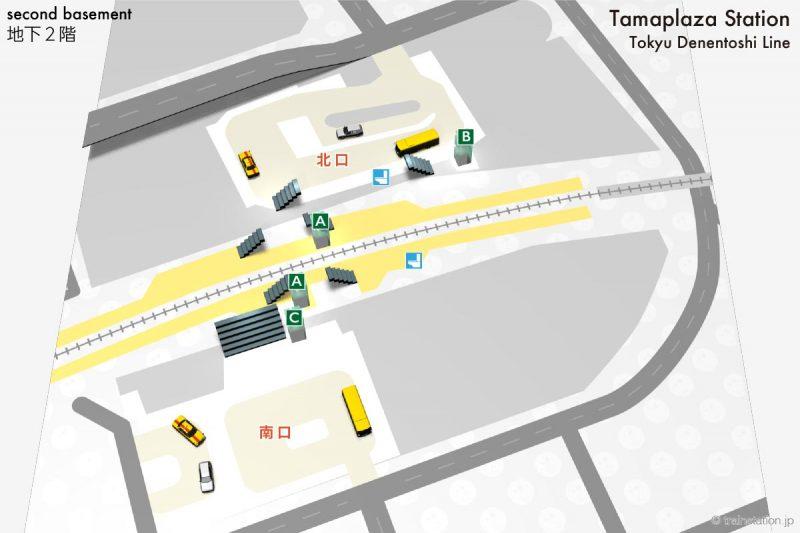 たまプラーザ駅構内図とバスロータリー