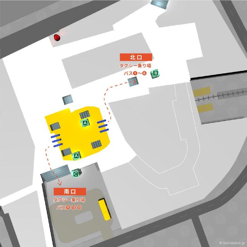 たまプラーザ駅タクシー乗り場,バス停
